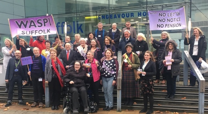 Suffolk County Council unanimously supports WASPI campaign